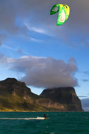 kite surfing Lord Howe Island